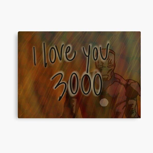 I love you 3000 Canvas Print