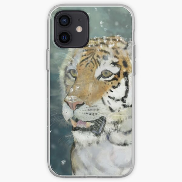 Tigre des neiges by sophiescolors Coque souple iPhone