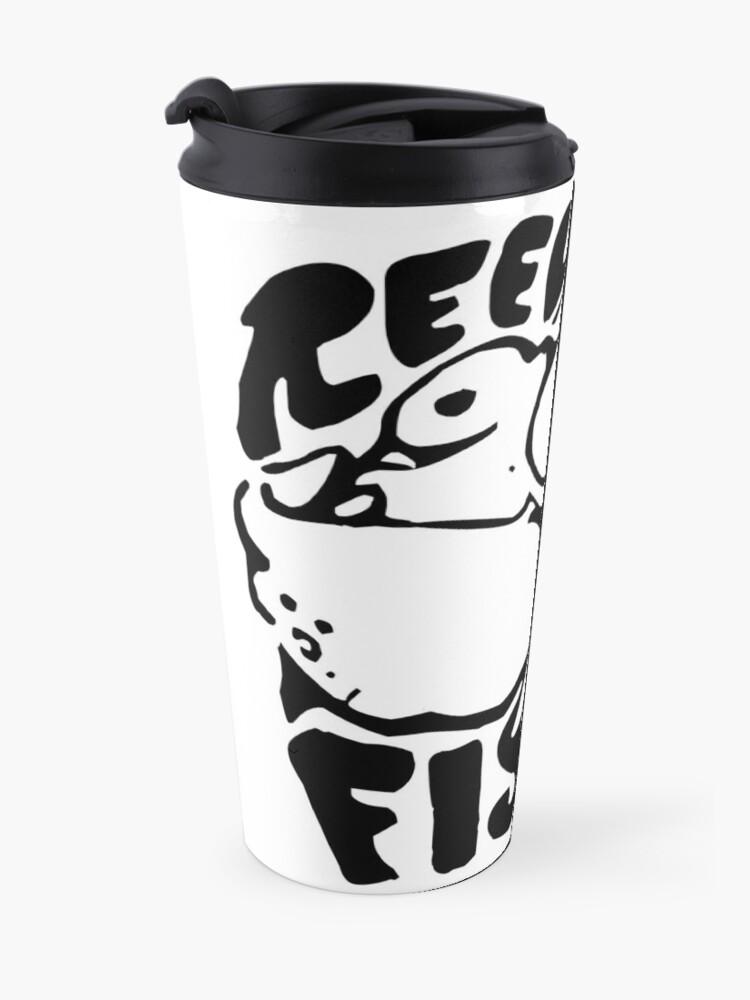 Alternate view of Band Stencil - Black Travel Mug