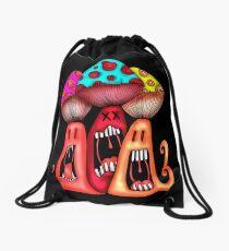 Angry Mushrooms Drawstring Bag