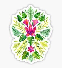 Tropical Symmetry – Pink & Green Sticker