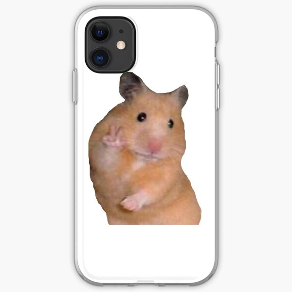Peace Sign Hamster iPhone Soft Case