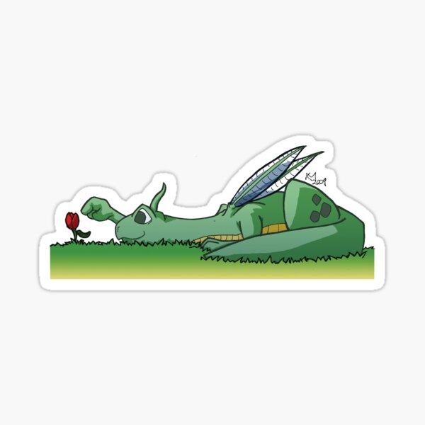 Gardening Dragon Sticker