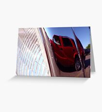 Reflection in the Headlight Greeting Card