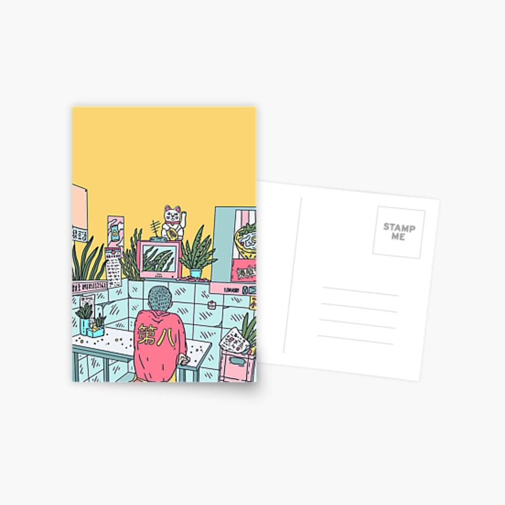 Neon Asia Postkarte