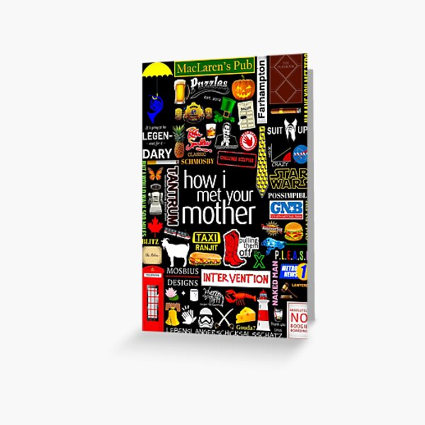 How i Met Your Mother Collage Poster Iconographic - Infographic Greeting Card