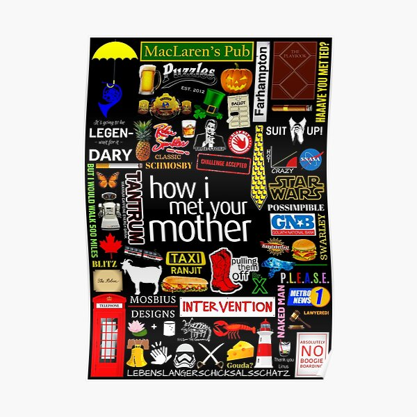 How i Met Your Mother Collage Poster Iconographic - Infographic Poster