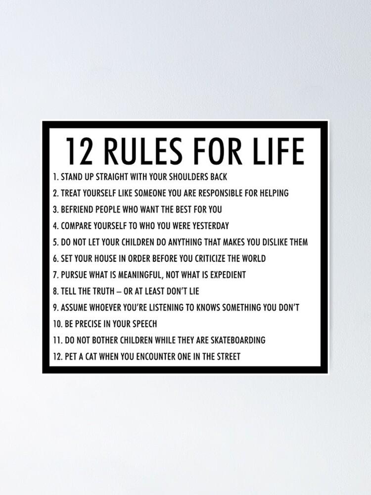 12 rules for life jordan peterson version 1 -