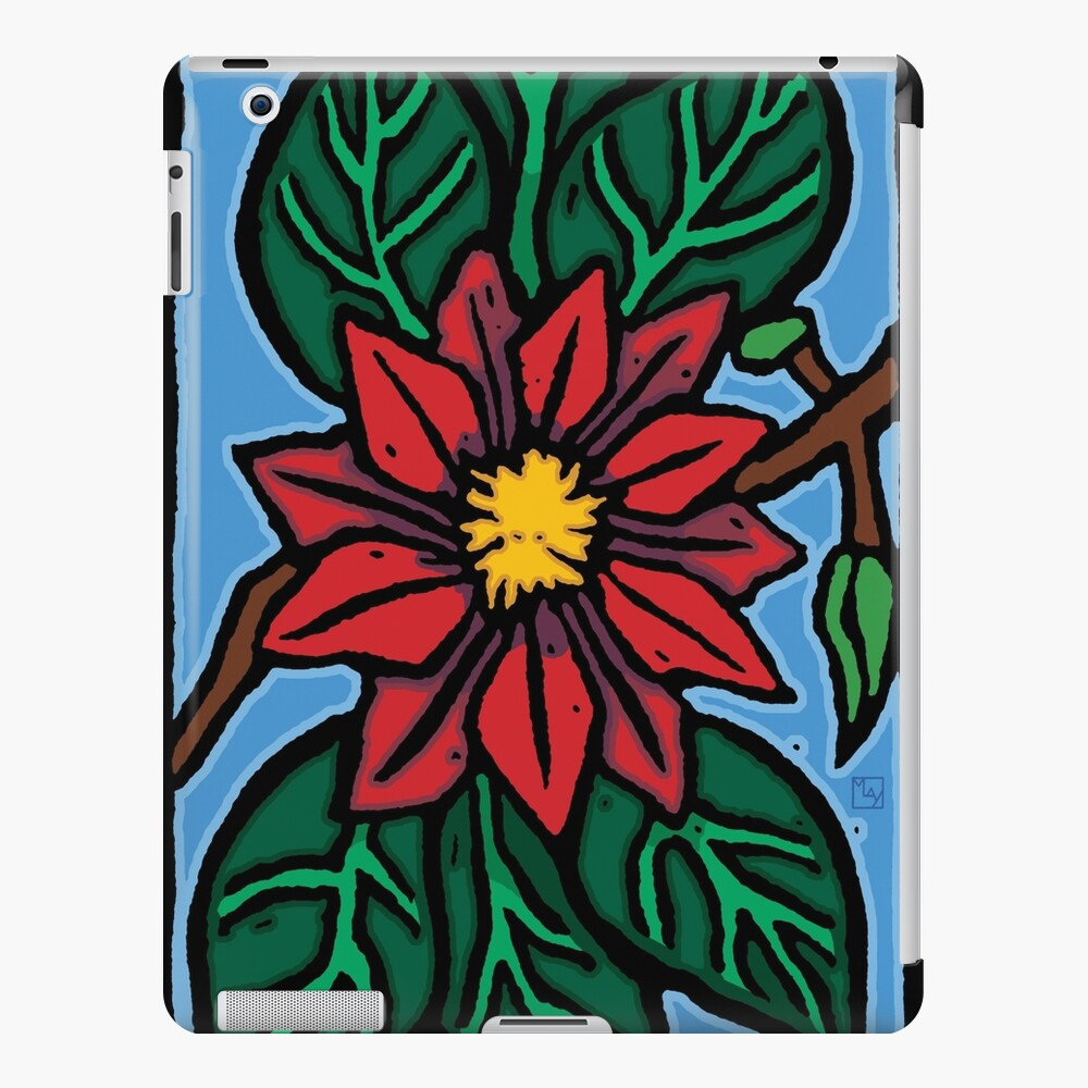 Red Flower iPad Case & Skin