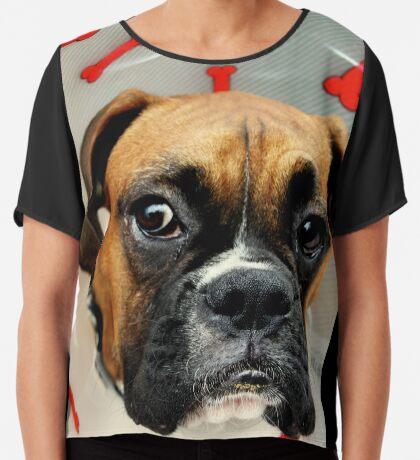 Nicht glücklich - Boxer Dog Series Chiffontop für Frauen