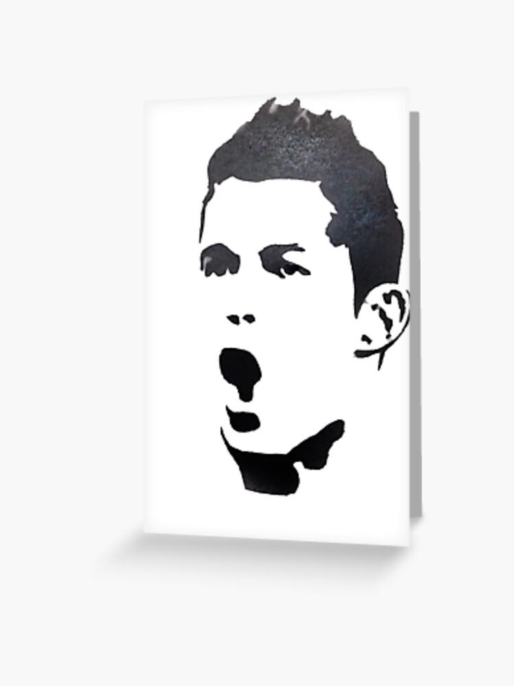 Cristiano Ronaldo Draw Greeting Card By Mehdi581 Redbubble