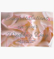 congratulations on your wedding day poster