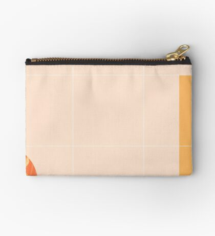 Mid-Century Tropical Orange Mood #redbubble #tropical Zipper Pouch
