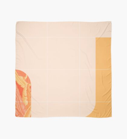 Mid-Century Tropical Orange Mood #redbubble #tropical Scarf
