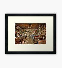 Nevada's Oldest Thirst Parlor (INside) Framed Print