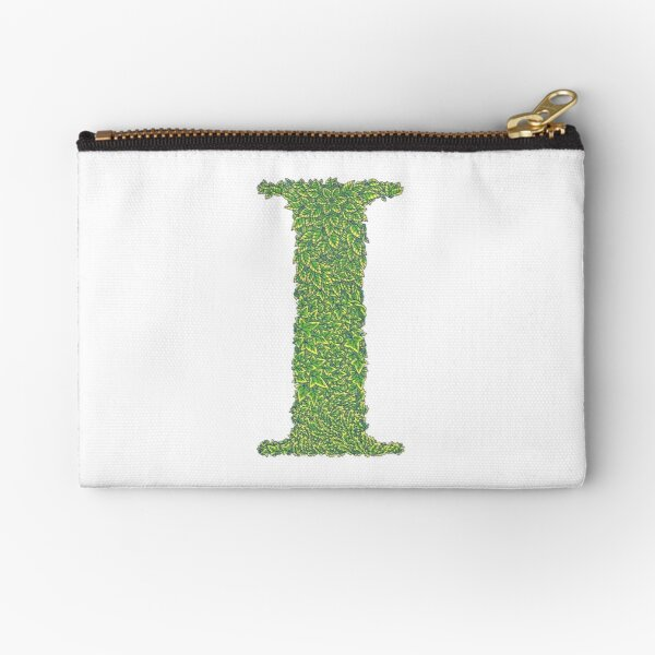 Alphabet I - Woodland Green Zipper Pouch