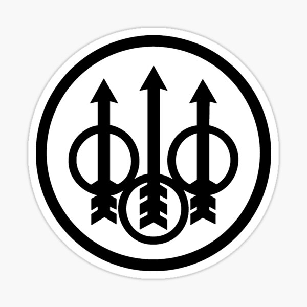 Logo Beretta Firearms Noir Sticker