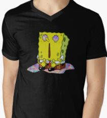 SpongeBob Acid Pants Mens V-Neck T-Shirt