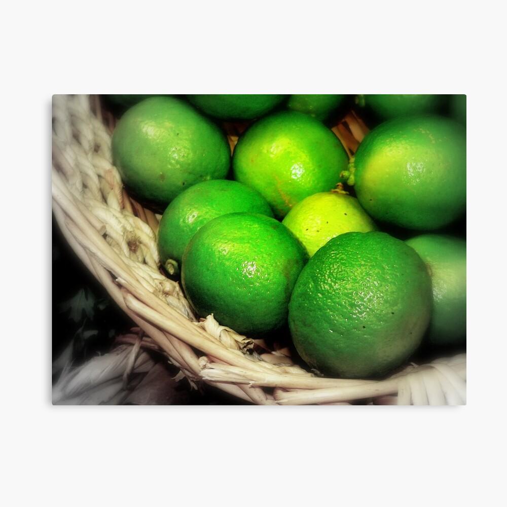 Citron vert de peur Canvas Print