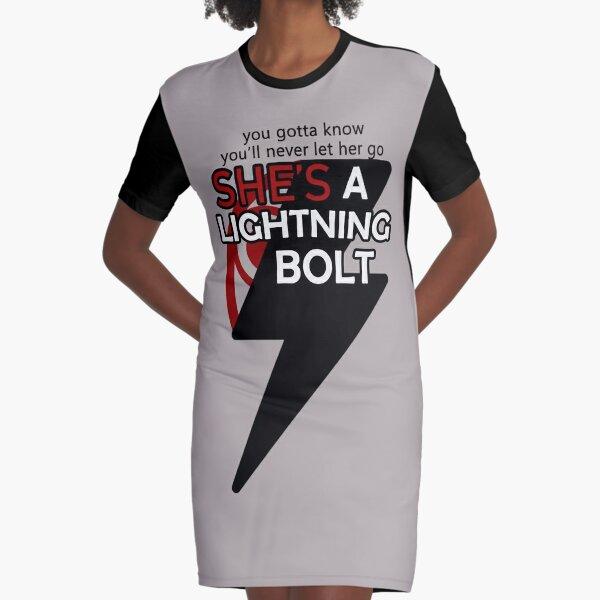 Lightning Bolt - inspired by Pearl Jam - grey  Graphic T-Shirt Dress