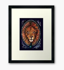 A Lion is the True Nature of a Cat Framed Print