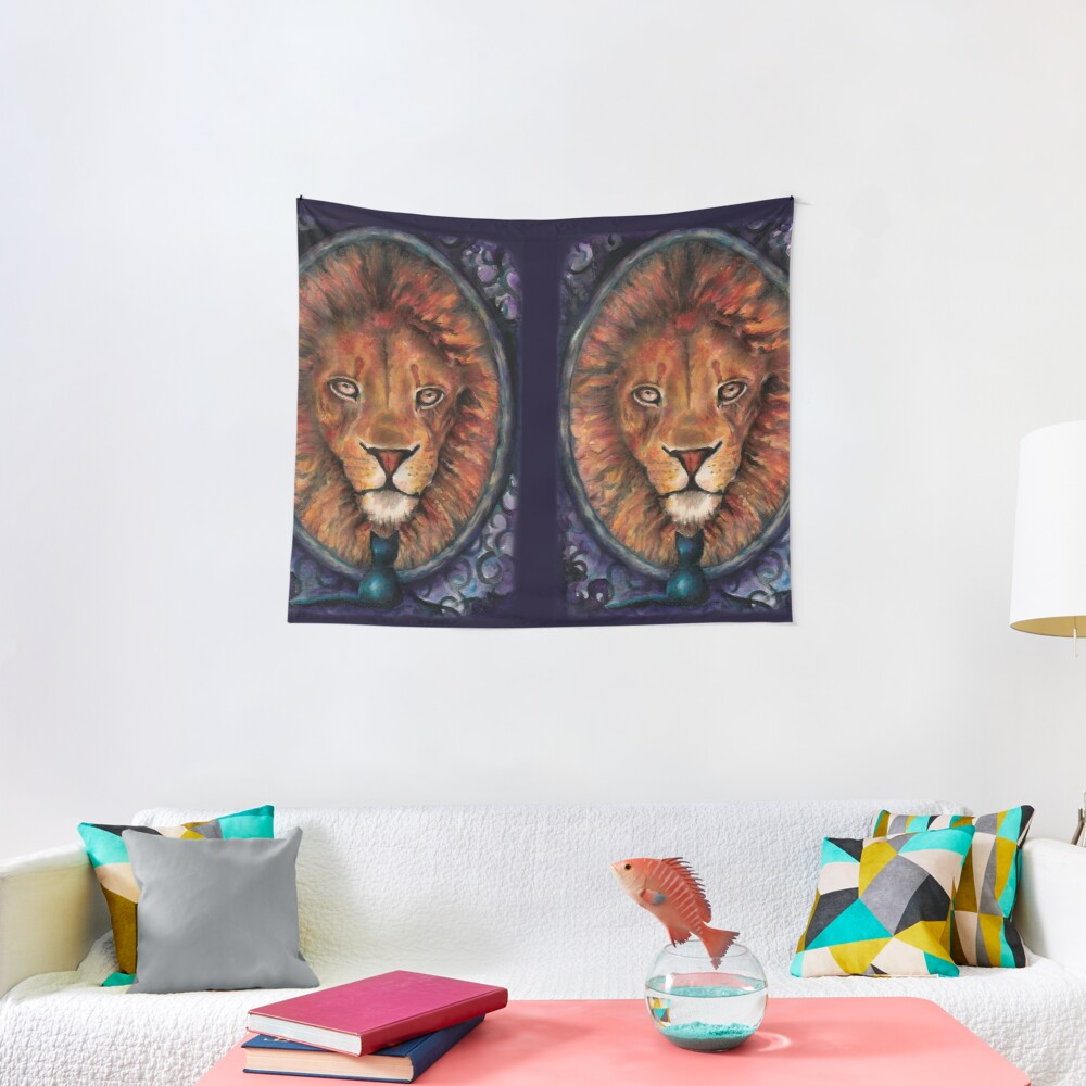A Lion is the True Nature of a Cat Tapestry