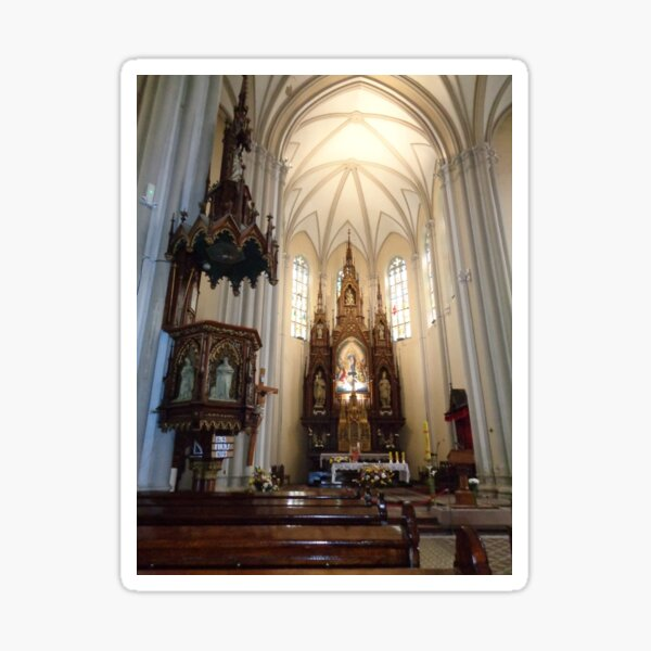 Inside the church: *The name of Mary* Novi Sad,Serbia Sticker