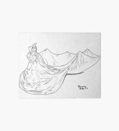 Lady Ink drawing Met 2019 Pink Dress Art Board Print