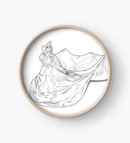 Lady Ink drawing Met 2019 Pink Dress Clock