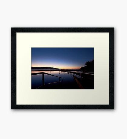 Lonely Sunrise Framed Print