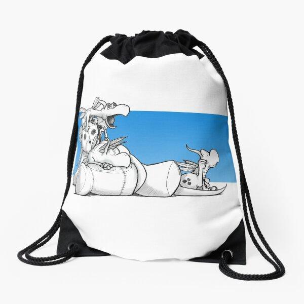 Baby Dragons (Blue) Drawstring Bag