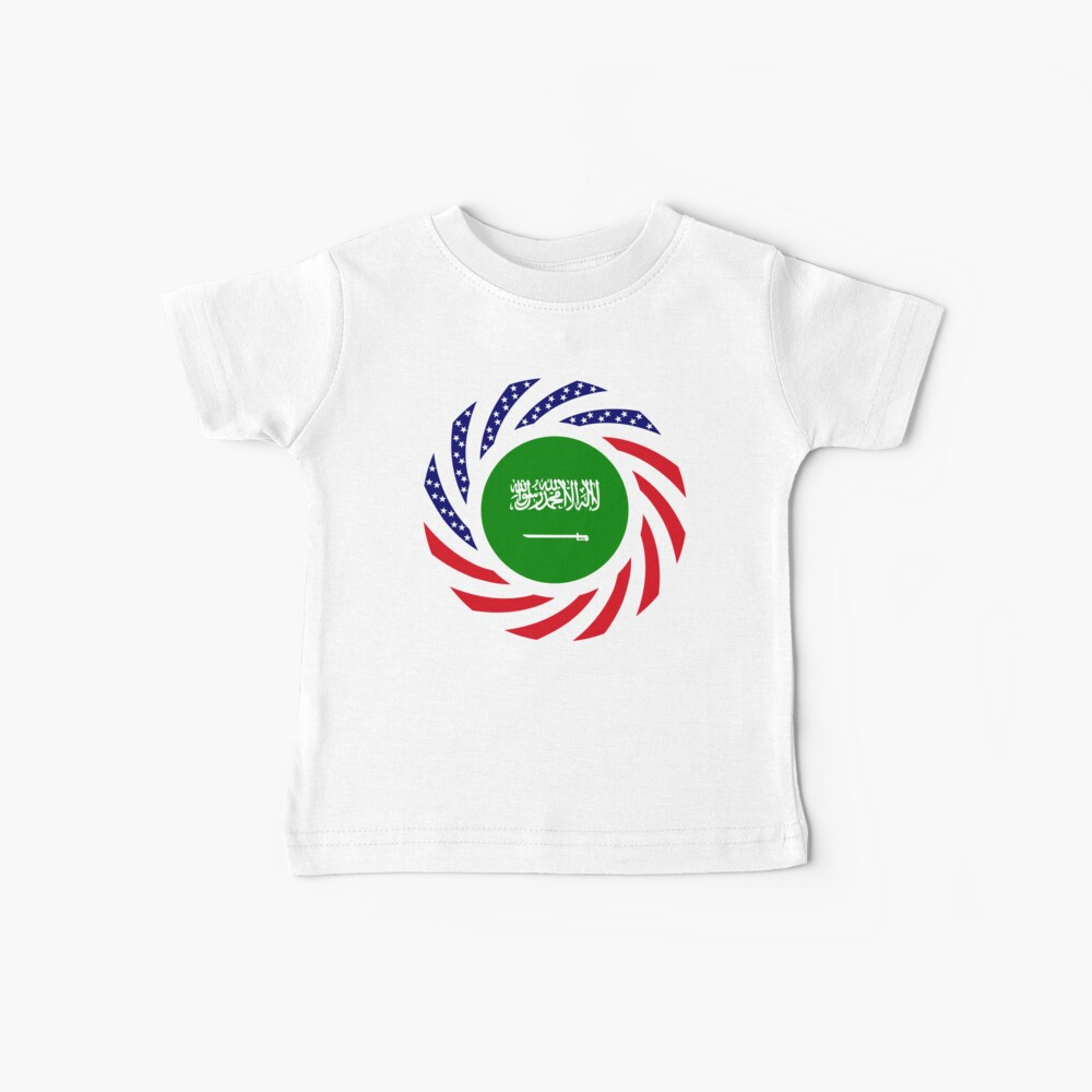 Saudi American Multinational Patriot Flag Series Baby T-Shirt
