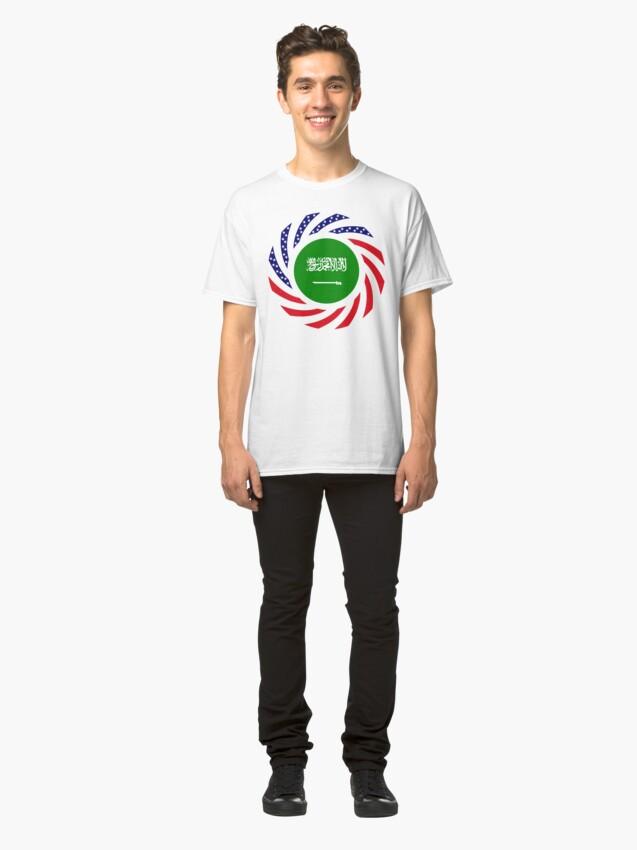 Alternate view of Saudi American Multinational Patriot Flag Series Classic T-Shirt