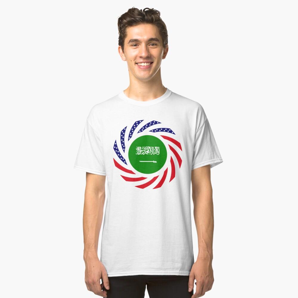 Saudi American Multinational Patriot Flag Series Classic T-Shirt