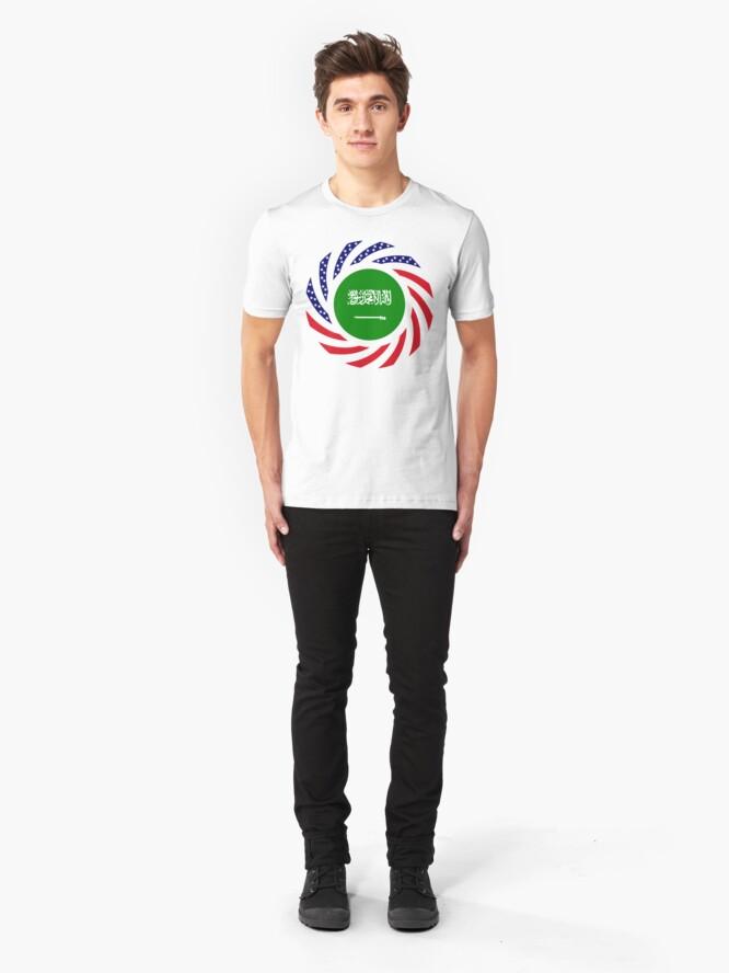 Alternate view of Saudi American Multinational Patriot Flag Series Slim Fit T-Shirt