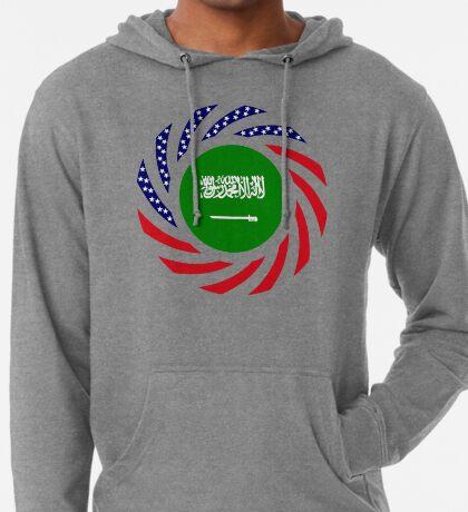 Saudi American Multinational Patriot Flag Series Lightweight Hoodie