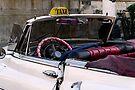 Open top Taxi, Havana, Cuba by David Carton