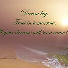 Afternoon At The Beach In Dreamland With Inspirational Text by hurmerinta