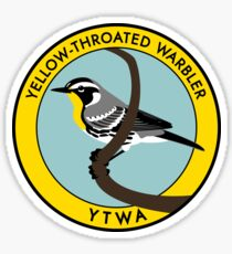 Yellow-throated Warbler Sticker