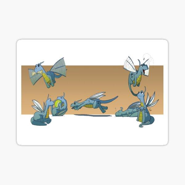 Litter of Baby Dragons Sticker