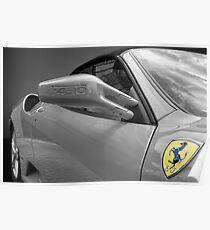Ferrari F430 black white 'n' yellow Poster