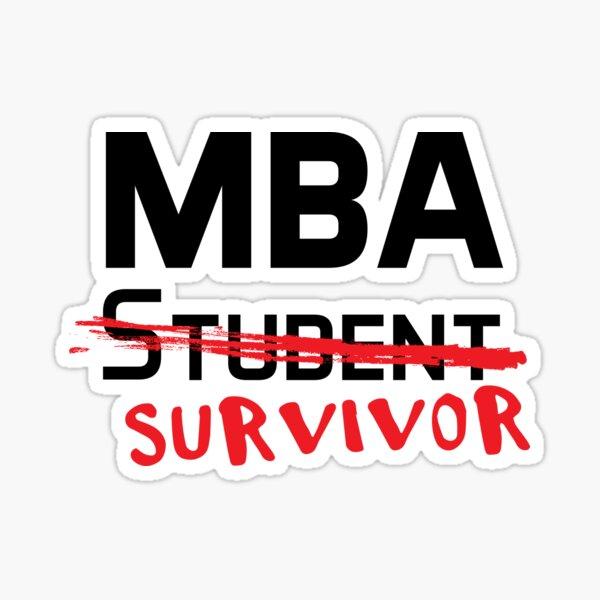 MBA Student Graduation  Sticker