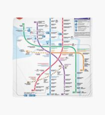 Saint Peterburg Subway Map.Saint Petersburg Scarves Redbubble