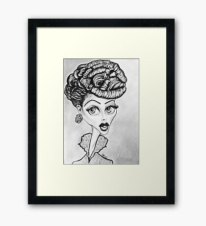 Lucille Ball Caricature Framed Print