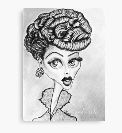 Lucille Ball Caricature Canvas Print