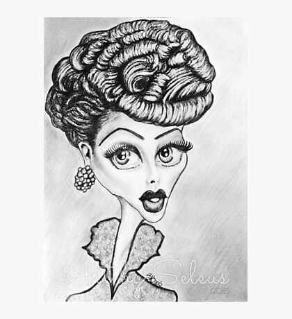 Lucille Ball Caricature Photographic Print