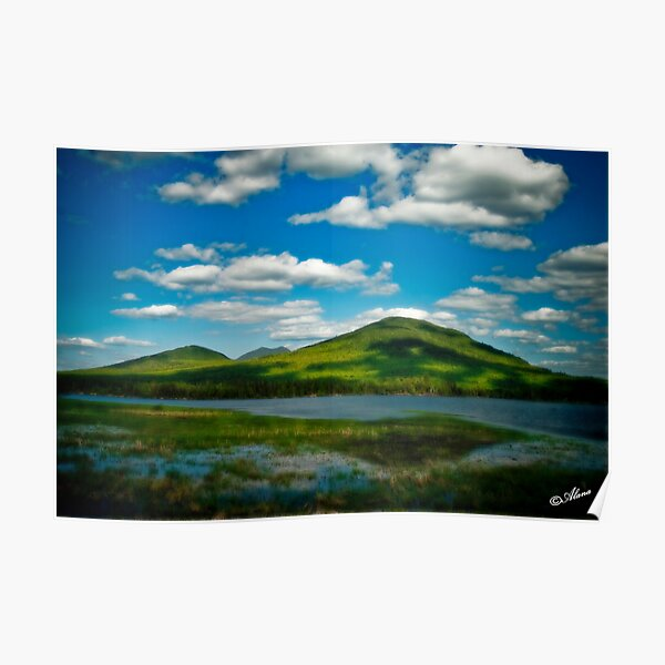 Spring in the Bigelow Mountains Poster