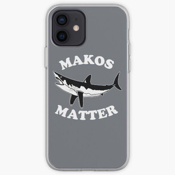 Makos Matter Ocean Conservation Mako Shark Pullover design iPhone Soft Case