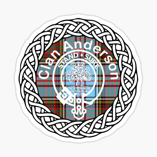 Clan Anderson surname last name tartan crest badge Sticker