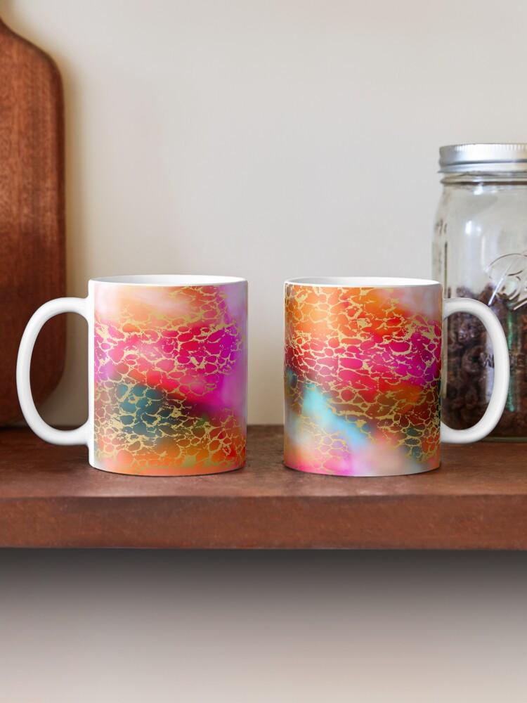 Alternate view of Hot gold color fancy Mug